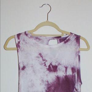 Purple Tie Dye Day Dress - Size 2